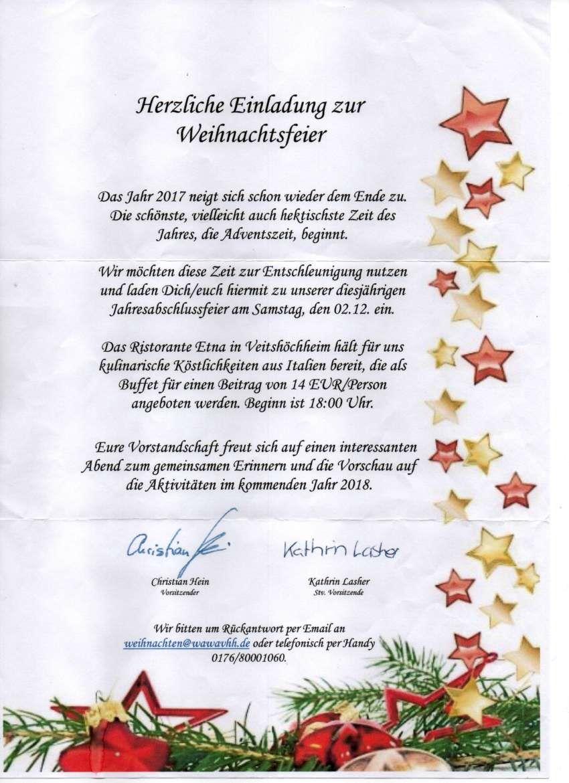 Einladung Zur Weihnachtsfeier.Einladung Weihnachtsfeier Wasserwacht Veitshochheim